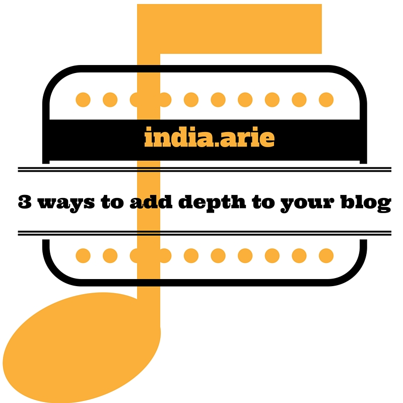 India.Arie Your Blog: 3 Super Simple Tips For Adding Depth
